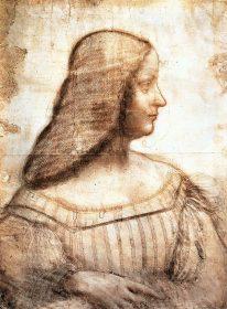 Da Vinci Porträt von Isabella d'Este aus Mantua