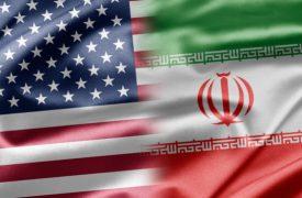 USA und Iran Flagge