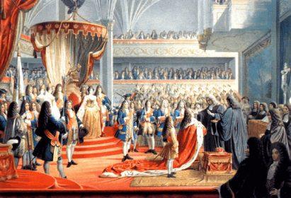 Kurfürst Friedrich III. krönt sich selbst zum König Friedrich I. in Preußen, Königsberg 1701