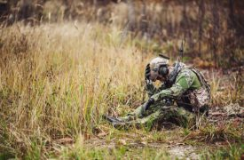 Soldat traurig