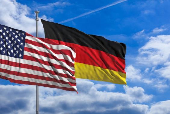 USA und Deutschland Flagge