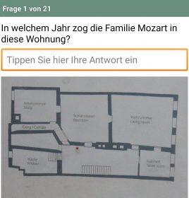 Mozarts Geburtshaus Quiz Screenshot