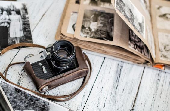 Kamera und Bilderalbum