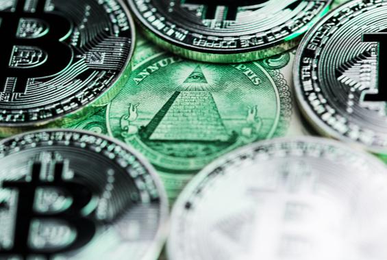 Münzen mit Illuminati
